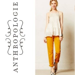 Anthropologie Hei Hei Darby Moto Roll Up Pants